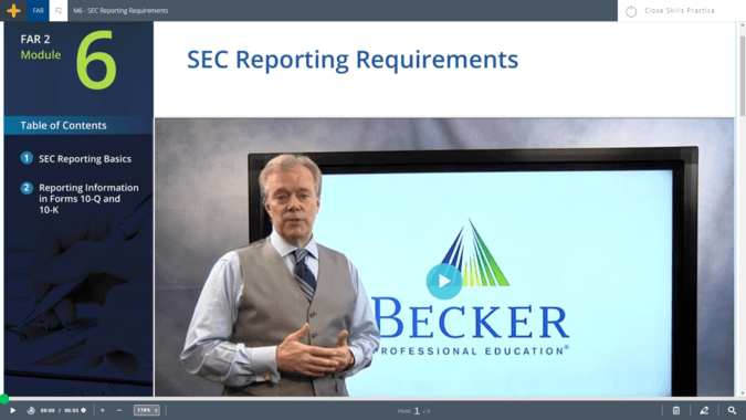 Becker cpa video lecture