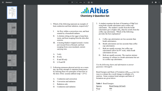 Altius MCAT practice test